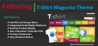T-Shirt Magento Theme - A Clothing Store Magento Template