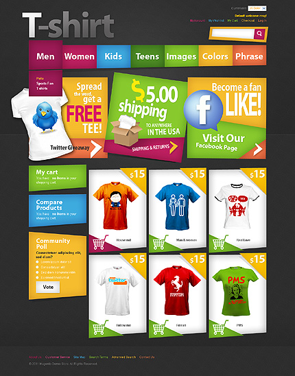T-Shirt Magento Shopt - Online Clothing Store Theme