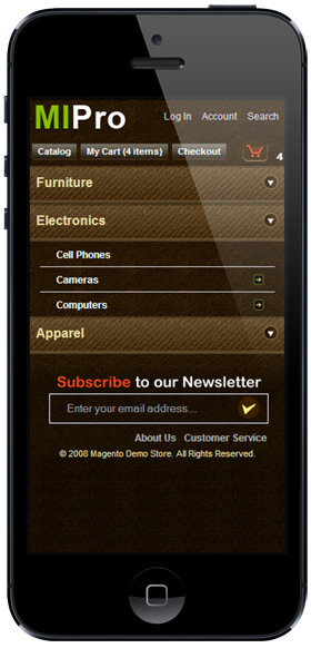 Magento Iphone Themes by MageStore